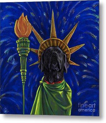 Lady Liberty - Black Metal Print by Kathleen Harte Gilsenan