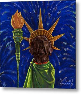 Lady Liberty - Chocolate Metal Print by Kathleen Harte Gilsenan