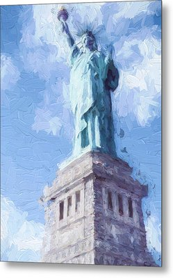 Lady Liberty Metal Print by Ike Krieger