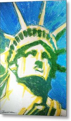 Lady Liberty Metal Print by Jerrett Dornbusch