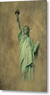 Lady Liberty New York Harbor Metal Print by David Dehner