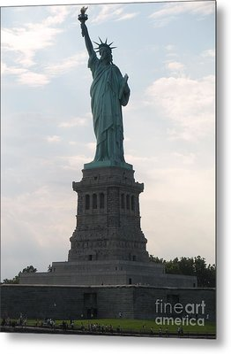 Metal Print featuring the photograph Lady Liberty by Luther Fine Art