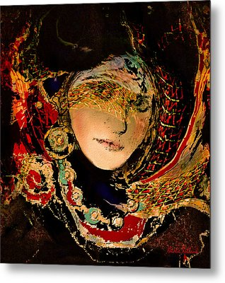 Lady Luxe Metal Print by Natalie Holland