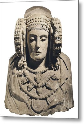 Lady Of Elche. 5th C. Bc. Iberian Art Metal Print