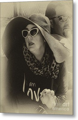 Lady Of Fashion Metal Print by Rene Triay Photography