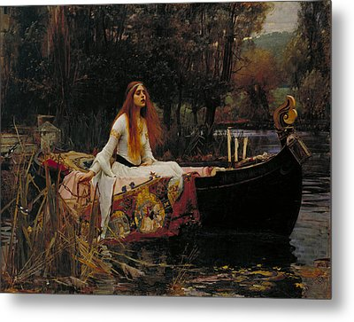 Lady Of Shalott Metal Print by John William Waterhouse