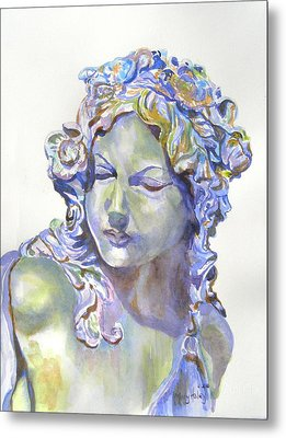 Lady Of Stone Metal Print