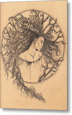 Lady Of The Forest Metal Print by Tamyra Crossley