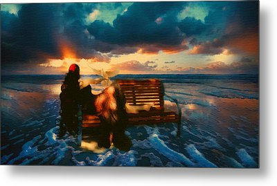 Lady Of The Ocean Metal Print