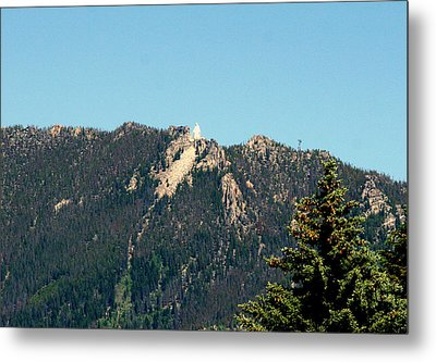 Lady Of The Rockies Butte Montana Metal Print by Larry Stolle