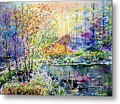 Lady Of Wood And Pond Metal Print by Alfred Motzer