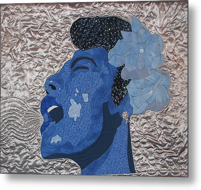Lady Sings Metal Print by Aisha Lumumba