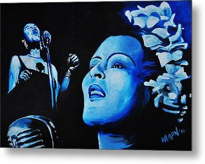 Lady Sings The Blues Metal Print by Ka-Son Reeves
