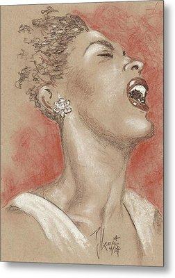Lady Sings The Blues Metal Print by P J Lewis