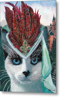 Lady Snowshoe Metal Print