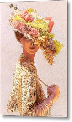 Lady Victoria Victorian Elegance Metal Print