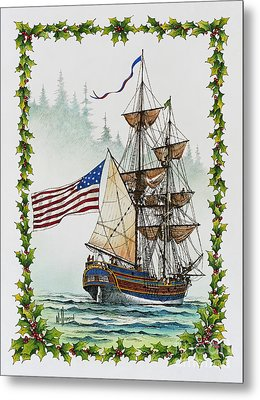 Lady Washington And Holly Metal Print by James Williamson