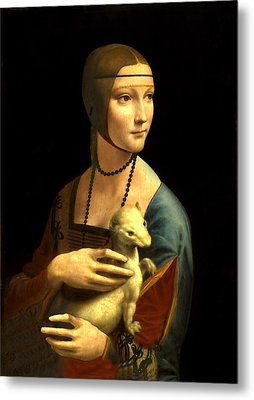 Lady With The Ermine Reproduction Metal Print