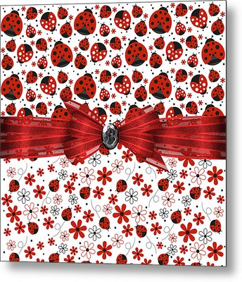 Ladybug Magic Metal Print by Debra  Miller