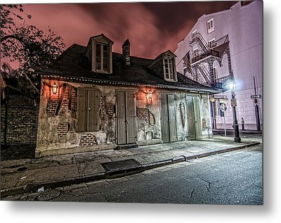 Lafitte's Blacksmith Shop Metal Print by Andy Crawford