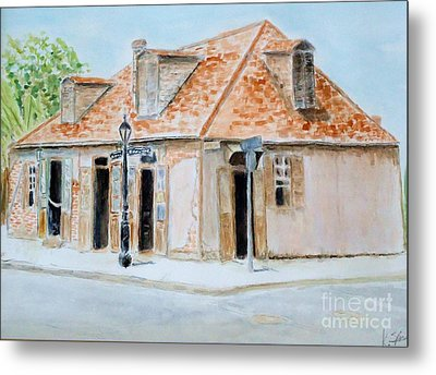Lafitte's Blacksmith Shop Metal Print by Katie Spicuzza