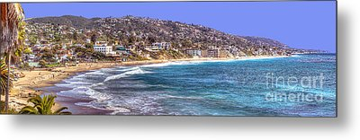 Laguna Beach Coast Panoramic Metal Print