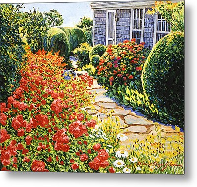 Laguna Beach House Garden Metal Print by David Lloyd Glover