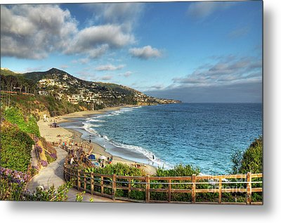 Laguna Beach Shoreline Metal Print by Eddie Yerkish