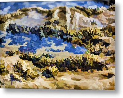Laguna Beach Tide Pool Pattern 3 Metal Print by Scott Campbell