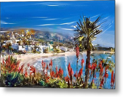 Laguna Sparkle Metal Print by Russell Pierce