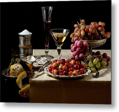 Laid Table - Ointbijt Metal Print