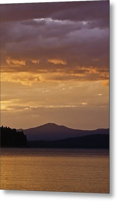 Lake Almanor Sunset Metal Print by Sherri Meyer