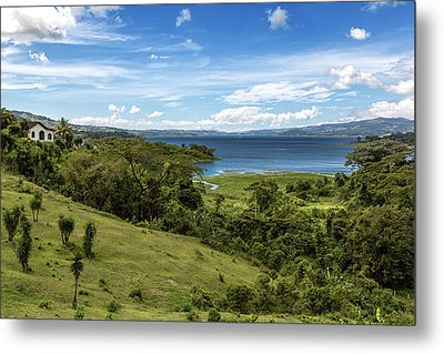 Lake Arenal View In Costa Rica Metal Print by Andres Leon
