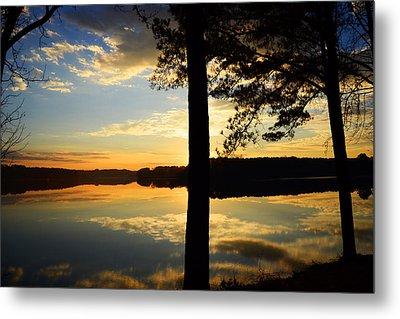 Lake At Sunrise Metal Print