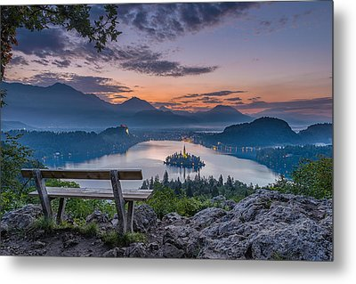 Lake Bled Metal Print