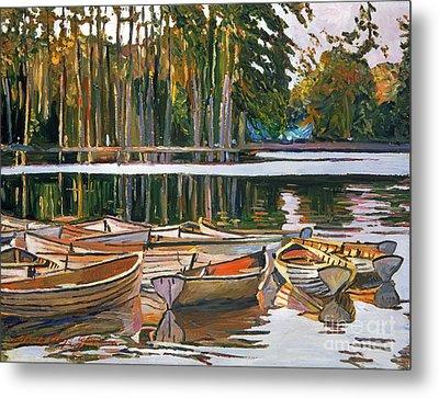 Lake Boats Paris Metal Print