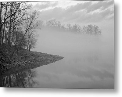 Lake Chatuge Lost In Fog Metal Print