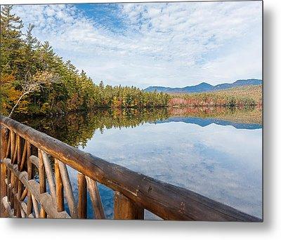 Lake Chocorua And Mount Chocorua From Bridge  Metal Print by Karen Stephenson