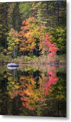 Lake Chocorua Moment Of Reflection Metal Print
