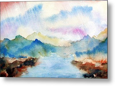 Lake Chuzenji Nikko Metal Print by Anna Ruzsan