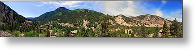 Lake City Colorado Mountain Range Metal Print