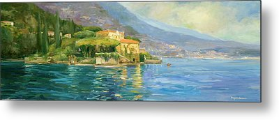 Lake Como Metal Print by Allayn Stevens