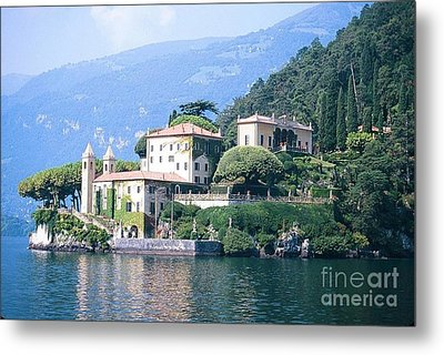 Lake Como Palace Metal Print by Greta Corens