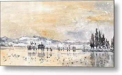 Lake Constance In Winter Metal Print by Miki De Goodaboom