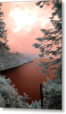 Lake Crescent Light Metal Print by Rebecca Parker