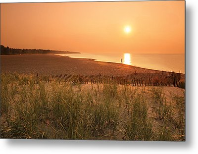 Lake Erie Sunset Metal Print by Garry McMichael