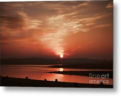 Metal Print featuring the photograph Lake Folsom California Sunset by Polly Peacock