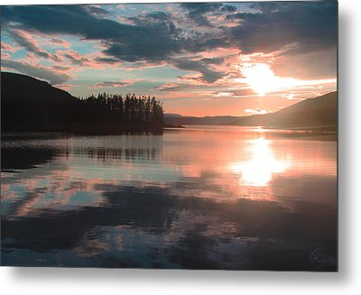 Lake Granby Sunset Metal Print by Chris Thomas