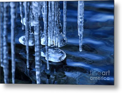 Lake Ice Metal Print by Charline Xia