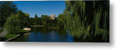 Lake In A Formal Garden, Boston Public Metal Print by Panoramic Images